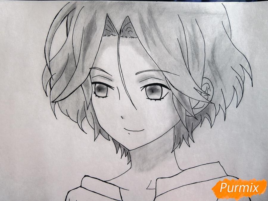 Рисуем маленького Райто Сакамаки - шаг 8