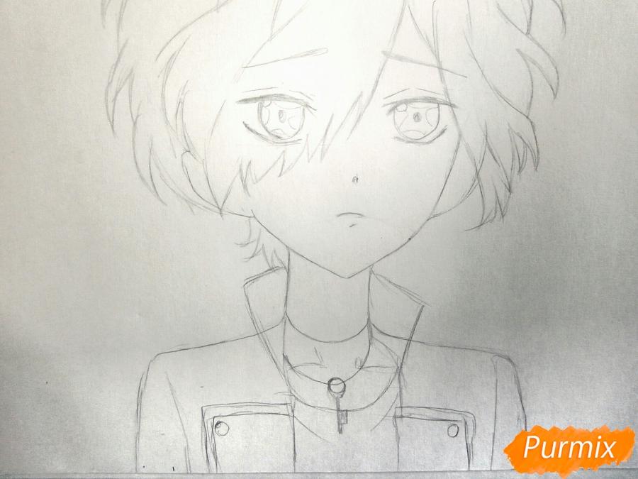 Рисуем маленького Сакамаки Субару - шаг 3