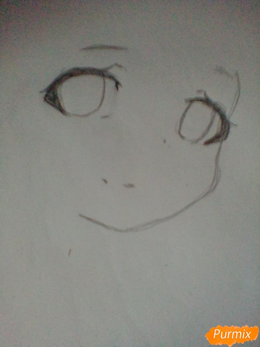 Рисуем портрет Марурука из аниме Созданный в Бездне - шаг 1