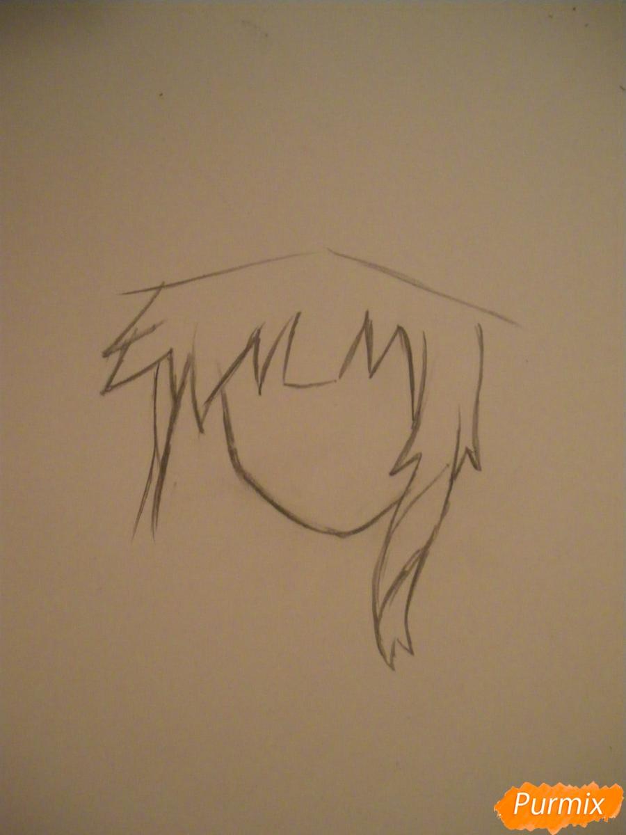 Рисуем Мегумин из аниме Богиня благословляет этот замечательный мир - шаг 1