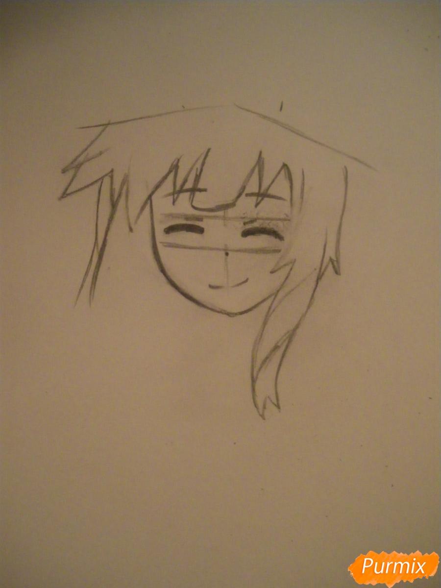 Рисуем Мегумин из аниме Богиня благословляет этот замечательный мир - шаг 2