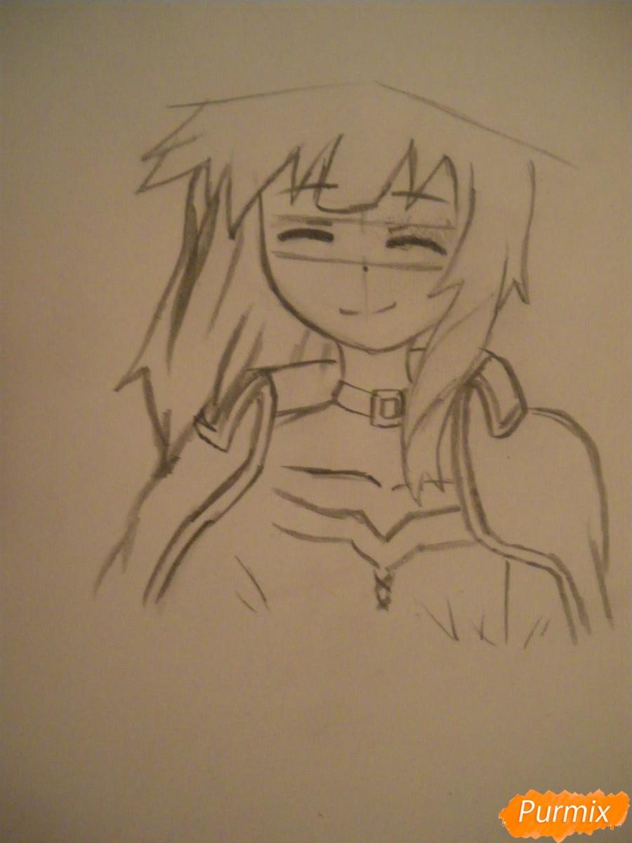 Рисуем Мегумин из аниме Богиня благословляет этот замечательный мир - шаг 3