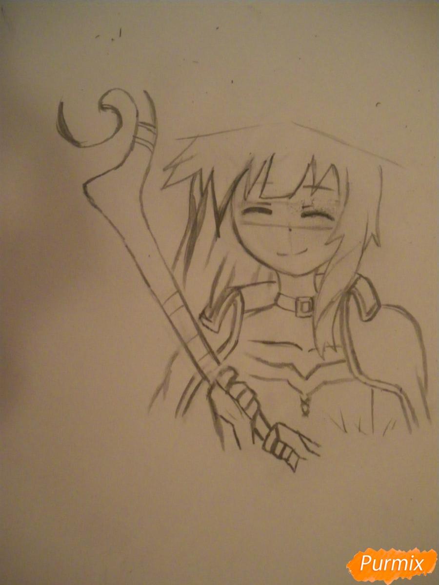 Рисуем Мегумин из аниме Богиня благословляет этот замечательный мир - шаг 4