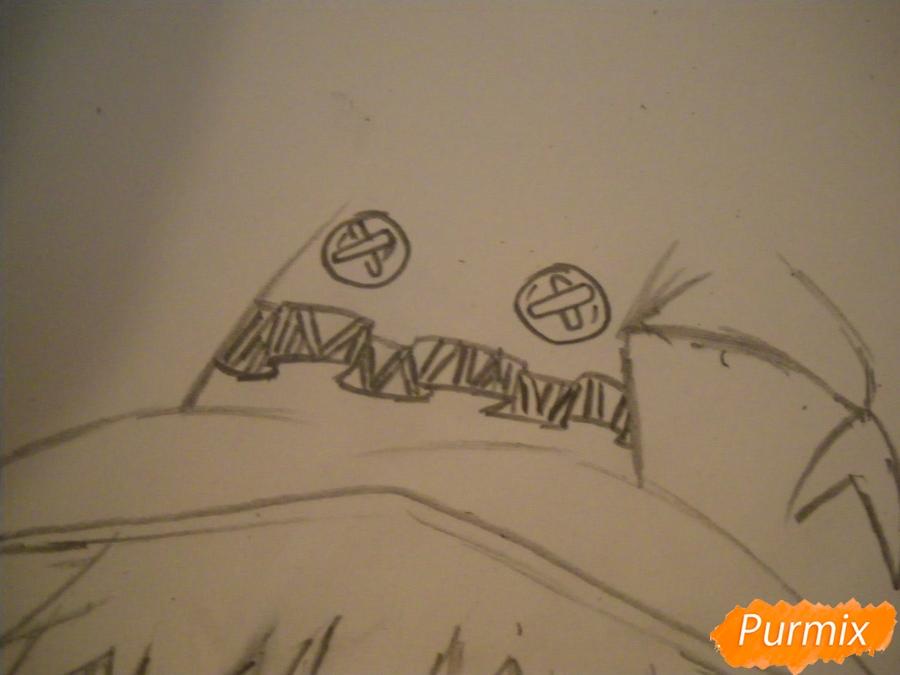 Рисуем Мегумин из аниме Богиня благословляет этот замечательный мир - шаг 6