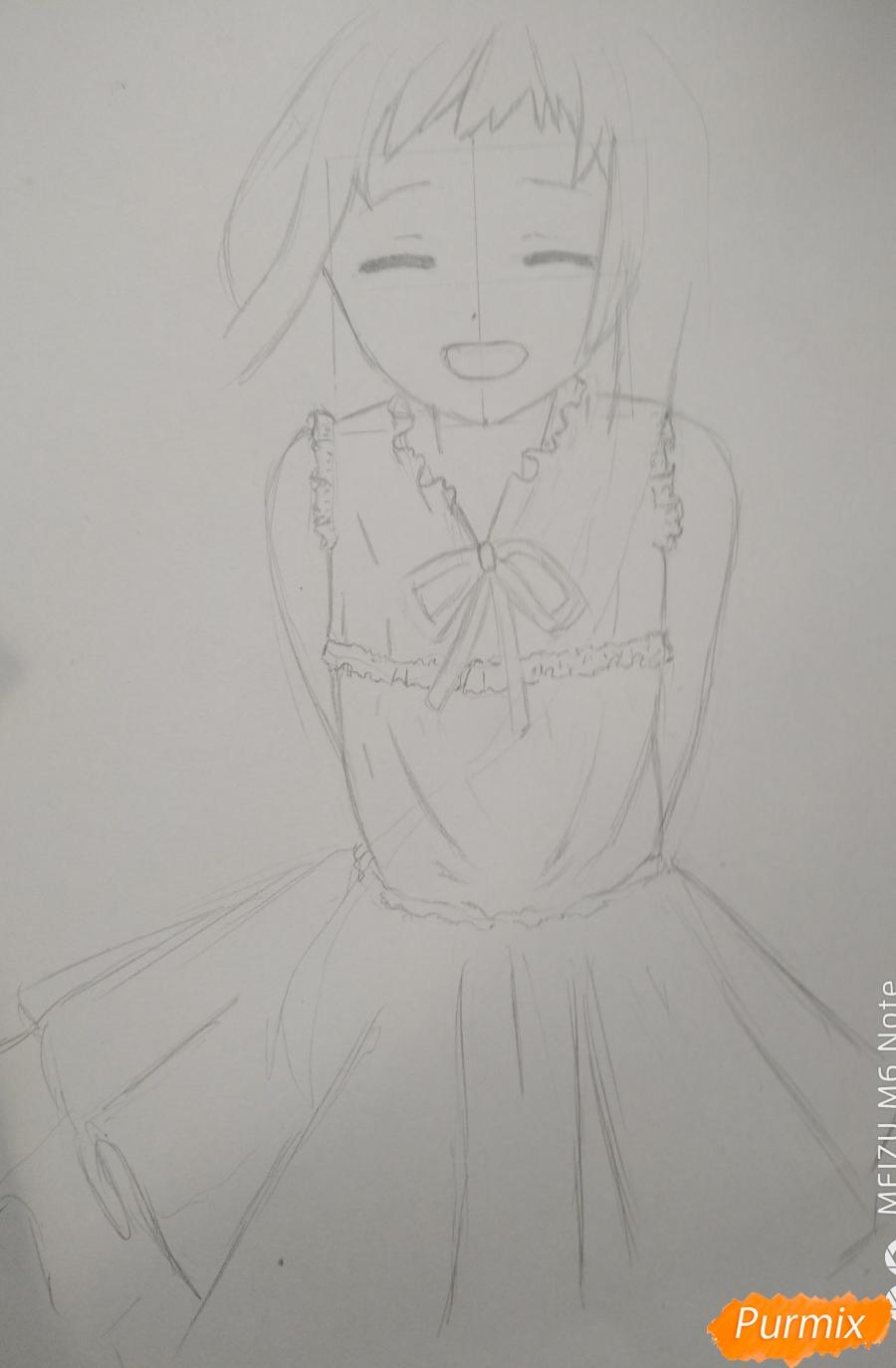 Рисуем Менму из аниме Невиданный цветок - фото 8