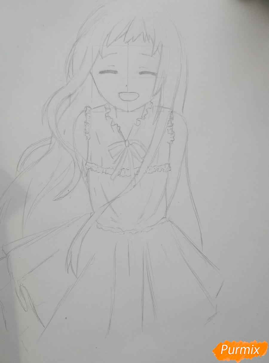 Рисуем Менму из аниме Невиданный цветок - фото 9