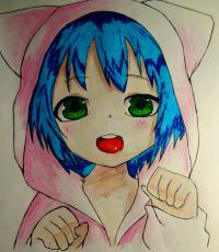 Рисунок миленького мальчика в стиле аниме