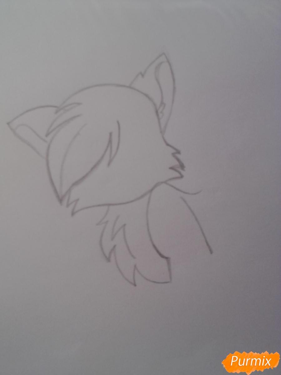 Рисуем милую аниме кошку - шаг 4