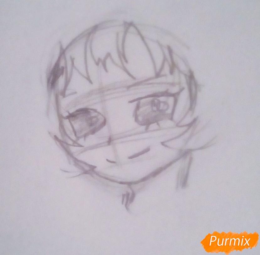 Рисуем Мину Ашидо из аниме Моя Геройская Академия - шаг 2