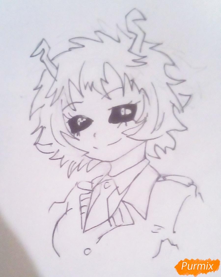 Рисуем Мину Ашидо из аниме Моя Геройская Академия - шаг 5