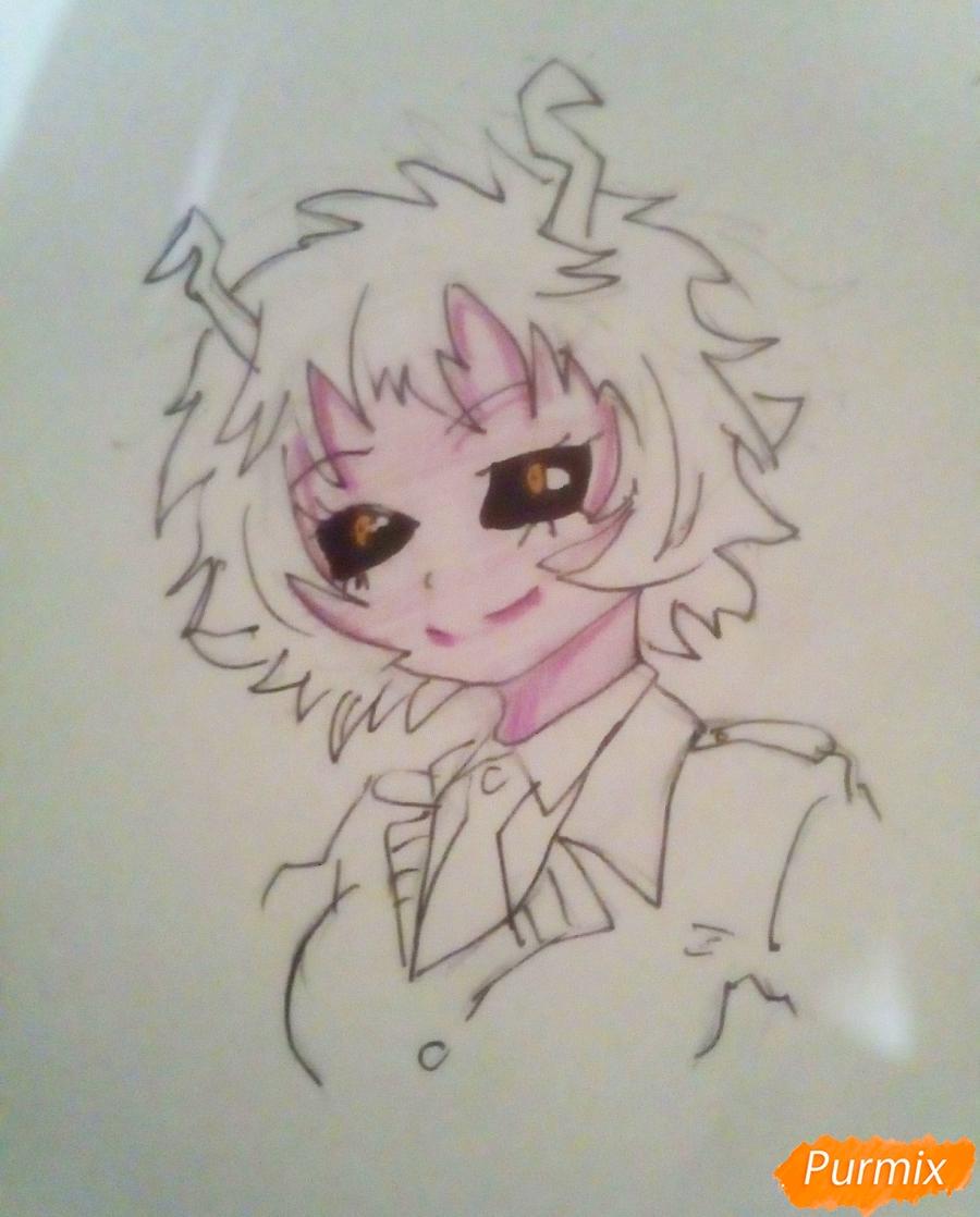 Рисуем Мину Ашидо из аниме Моя Геройская Академия - шаг 6