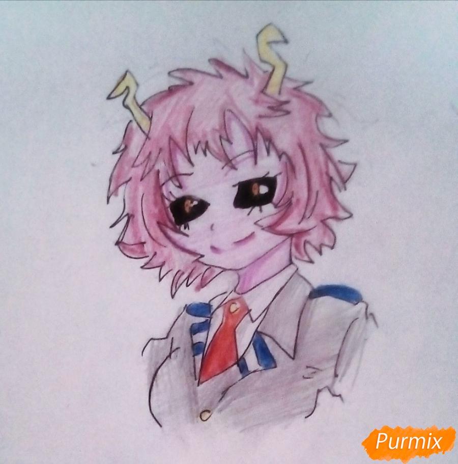 Рисуем Мину Ашидо из аниме Моя Геройская Академия - шаг 8