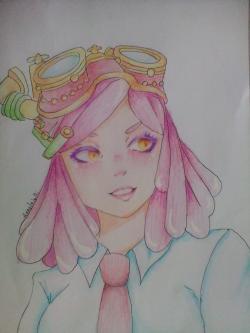 Мэй Хатсуме из Моя Геройская Академия карандашом