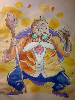Рисунок Мутена Роши из аниме Драконий жемчуг