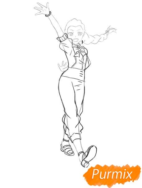Рисуем Нану Джинту в полный рост из аниме Парад смерти - шаг 4