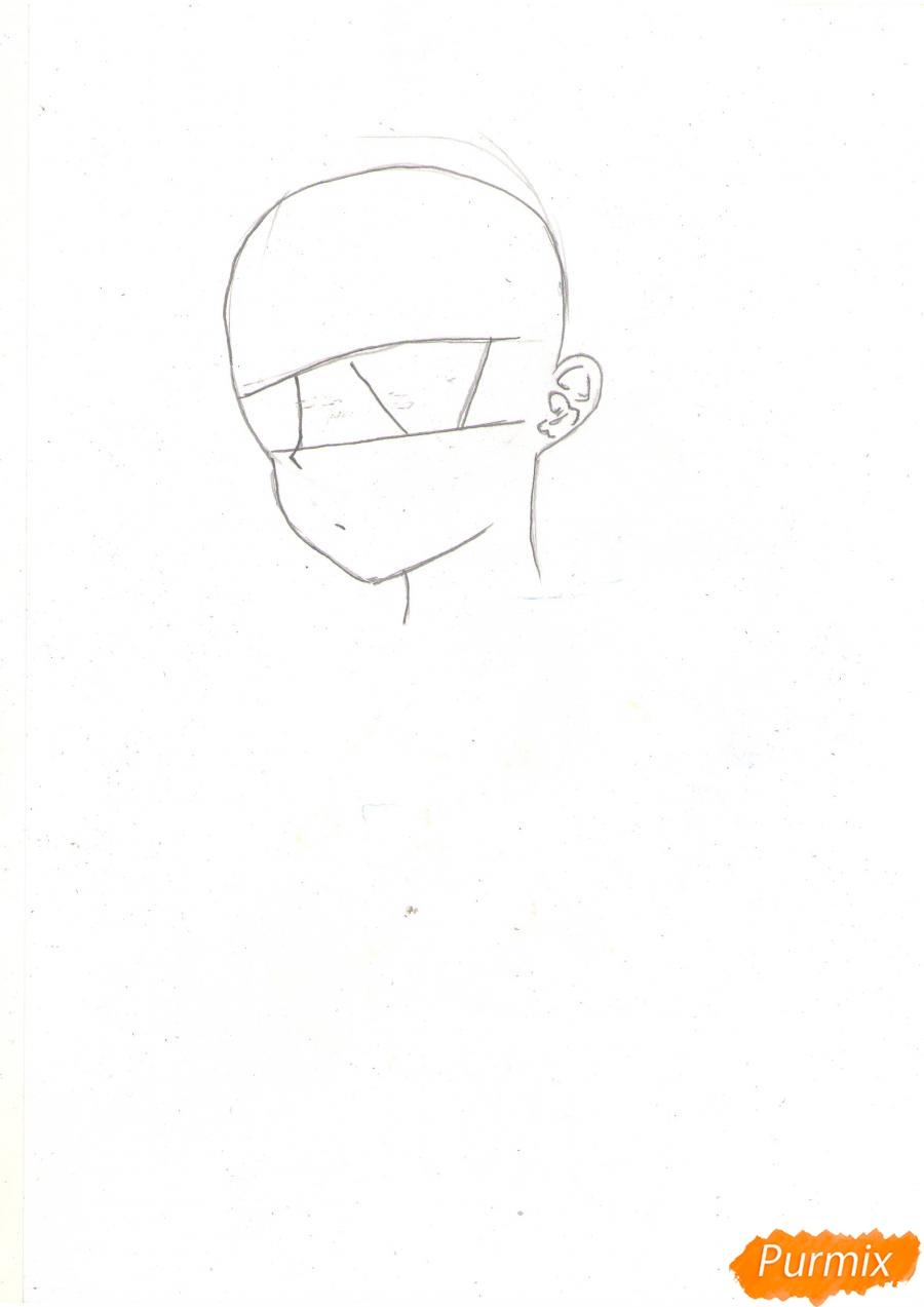 Рисуем Нао из аниме Шарлотта карандашами - фото 1