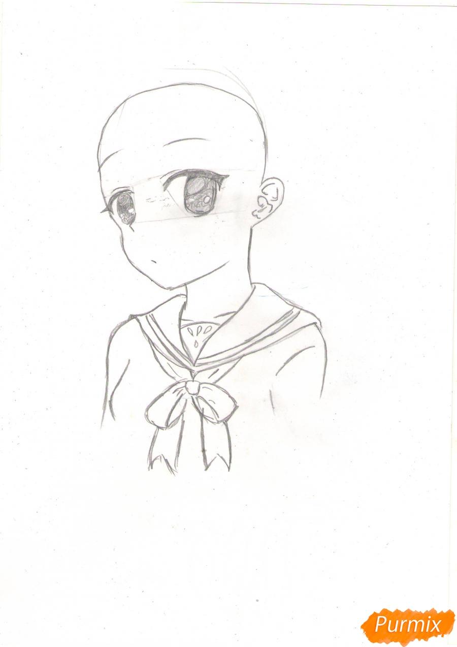 Рисуем Нао из аниме Шарлотта карандашами - фото 2