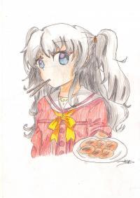 Рисунок Нао из аниме Шарлотта
