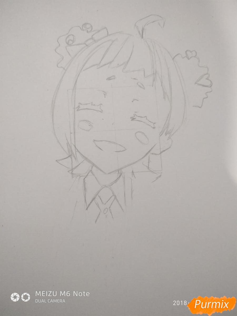 Рисуем Нико Нияма из аниме Кизнайвер - фото 4