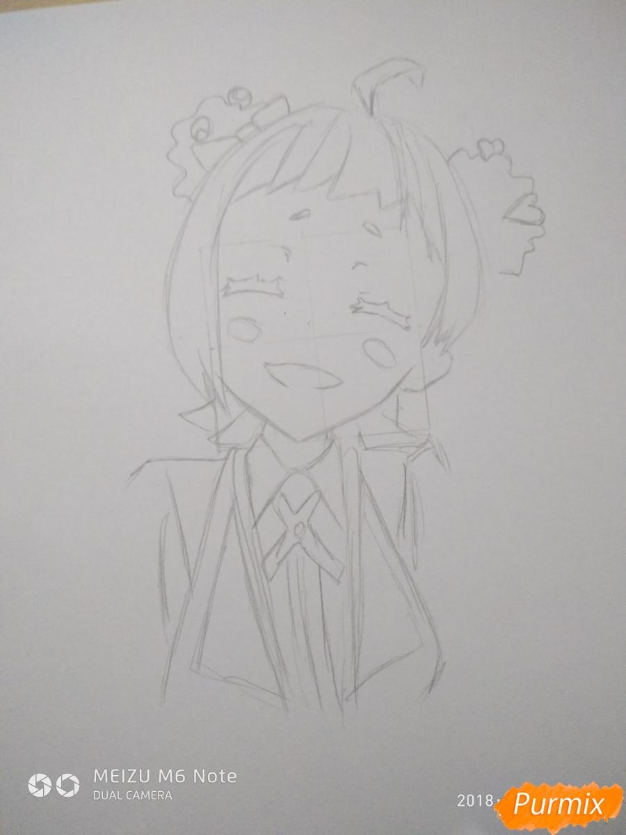 Рисуем Нико Нияма из аниме Кизнайвер - фото 5