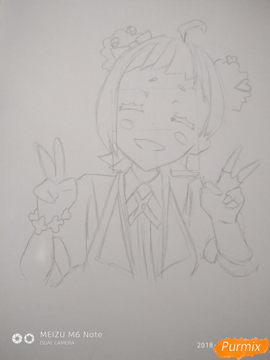 Рисуем Нико Нияма из аниме Кизнайвер - фото 6