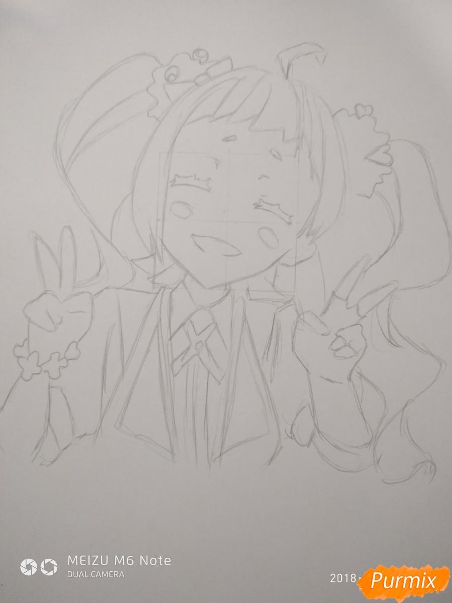 Рисуем Нико Нияма из аниме Кизнайвер - фото 7