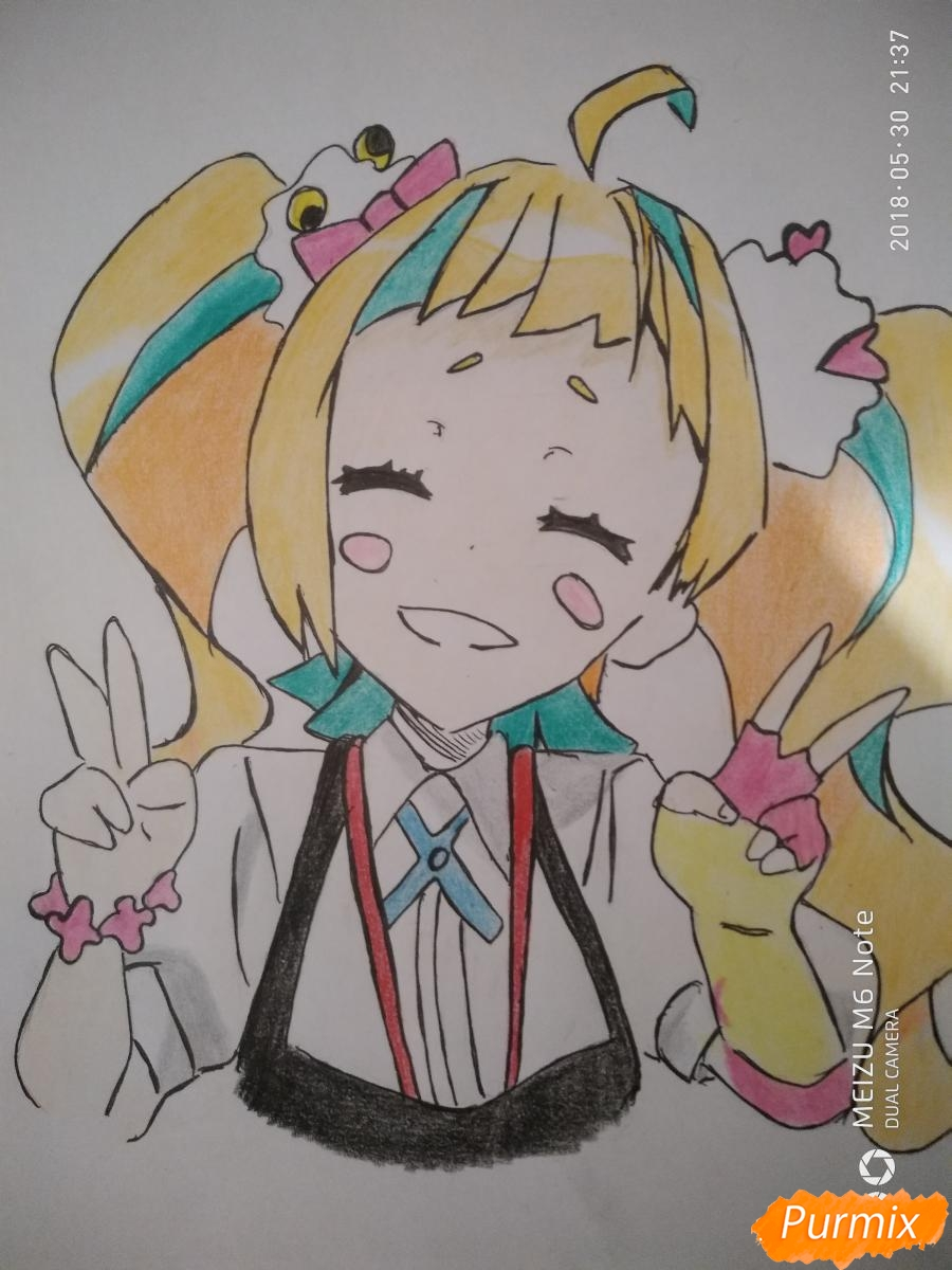 Как нарисовать Нико Нияма из аниме Кизнайвер поэтапно