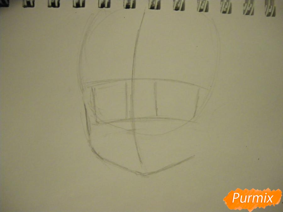Рисуем Нико Ядзаву из аниме Love Live карандашами - шаг 1