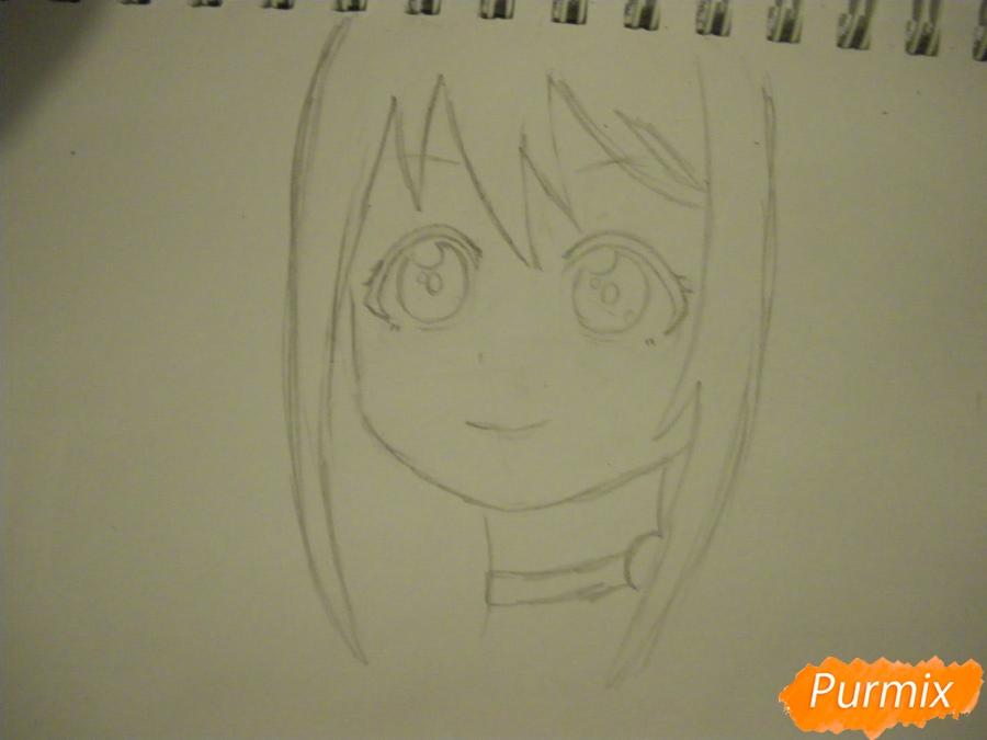 Рисуем Нико Ядзаву из аниме Love Live карандашами - шаг 3