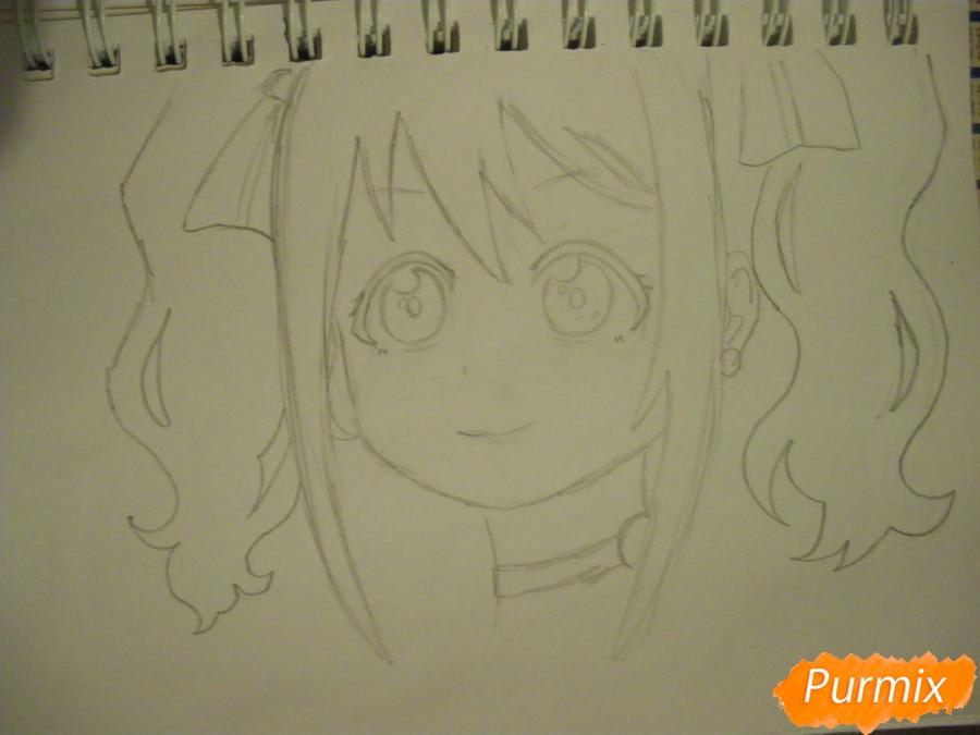 Рисуем Нико Ядзаву из аниме Love Live карандашами - шаг 4
