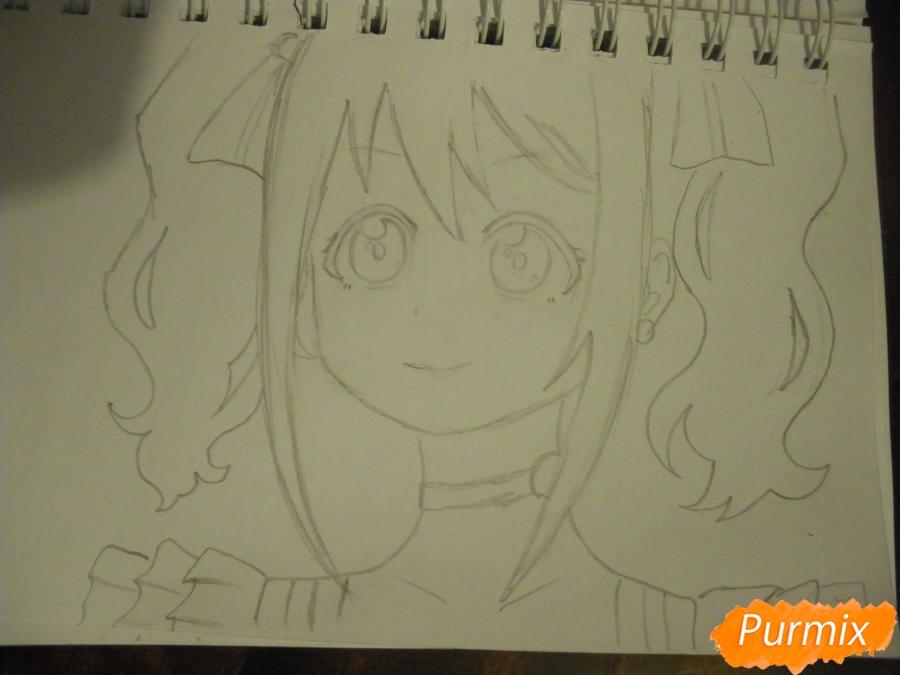 Рисуем Нико Ядзаву из аниме Love Live карандашами - шаг 5