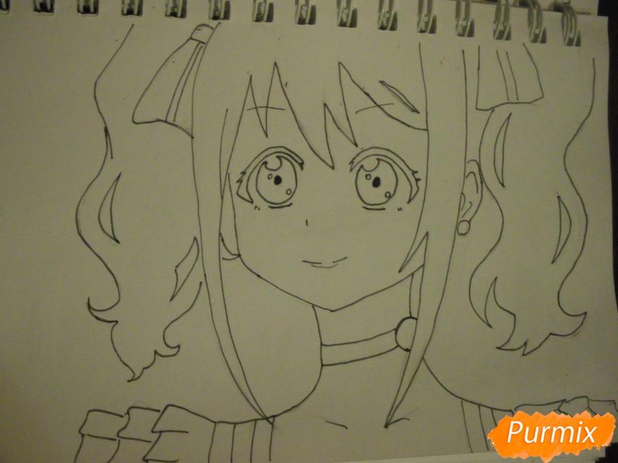 Рисуем Нико Ядзаву из аниме Love Live карандашами - шаг 6