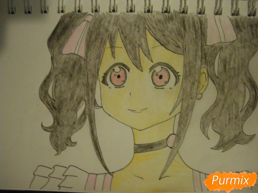 Рисуем Нико Ядзаву из аниме Love Live карандашами - шаг 7
