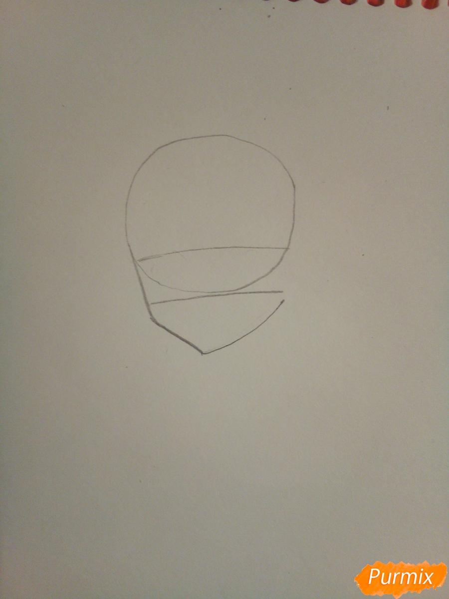 Рисуем Нико Ядзаву цветными карандашами - шаг 1