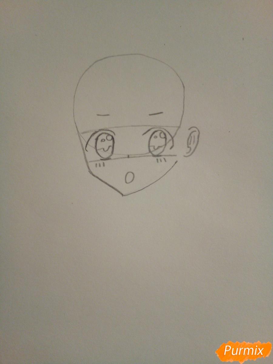 Рисуем Нико Ядзаву цветными карандашами - шаг 2