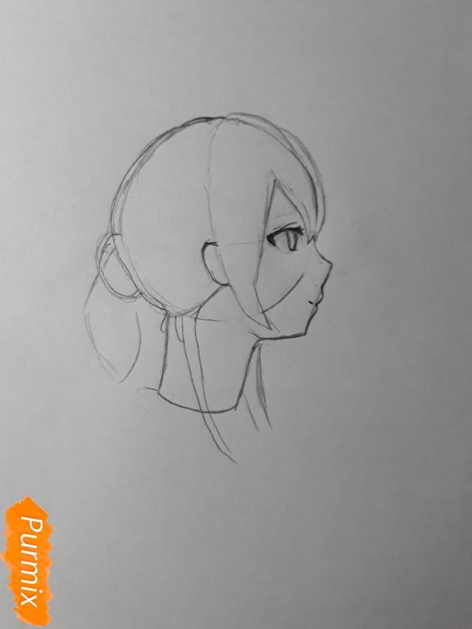 Рисуем Нишияму Шоко из аниме Форма голоса карандашами - фото 3