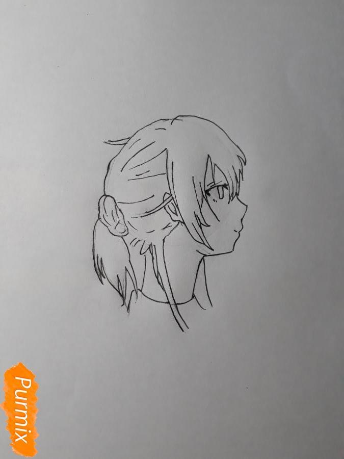 Рисуем Нишияму Шоко из аниме Форма голоса карандашами - фото 4