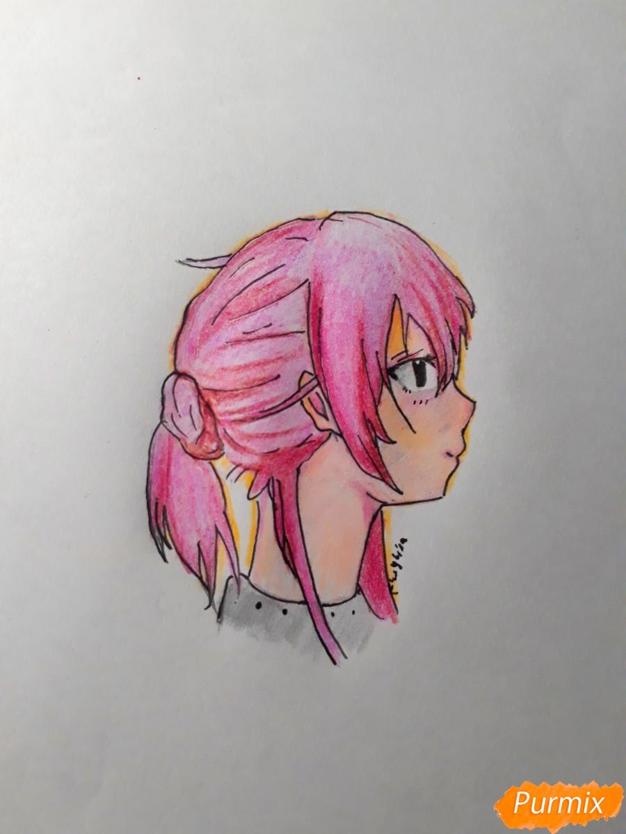 Рисуем Нишияму Шоко из аниме Форма голоса карандашами - фото 5