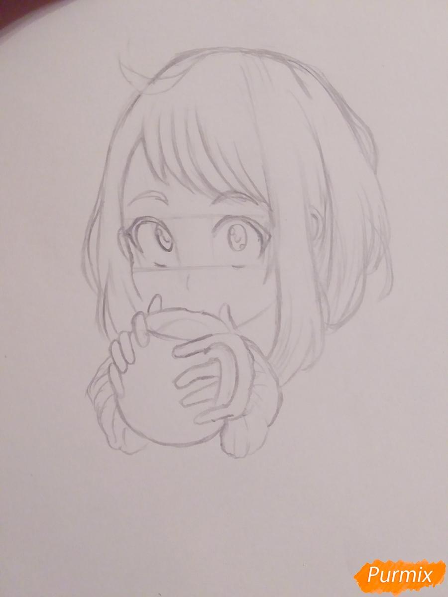 Рисуем Очако Урараку из аниме Моя Геройская Академия - фото 3