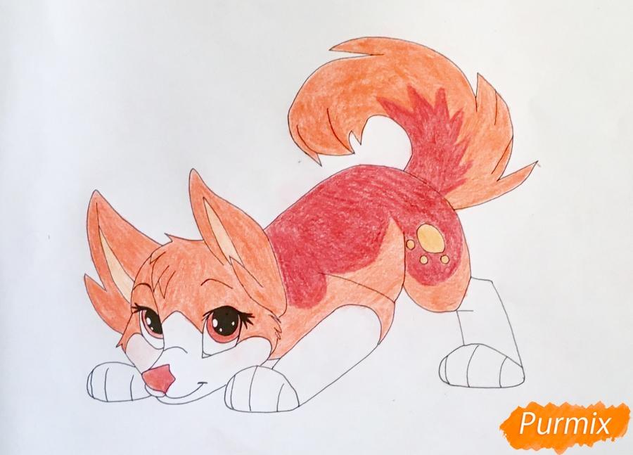 Рисуем огненную аниме собачку по имени Hipakipa - фото 9
