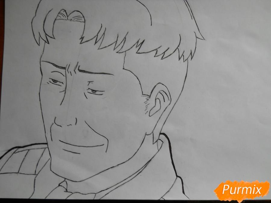 Рисуем портрет Оруо из аниме Атака титанов карандашами - фото 5
