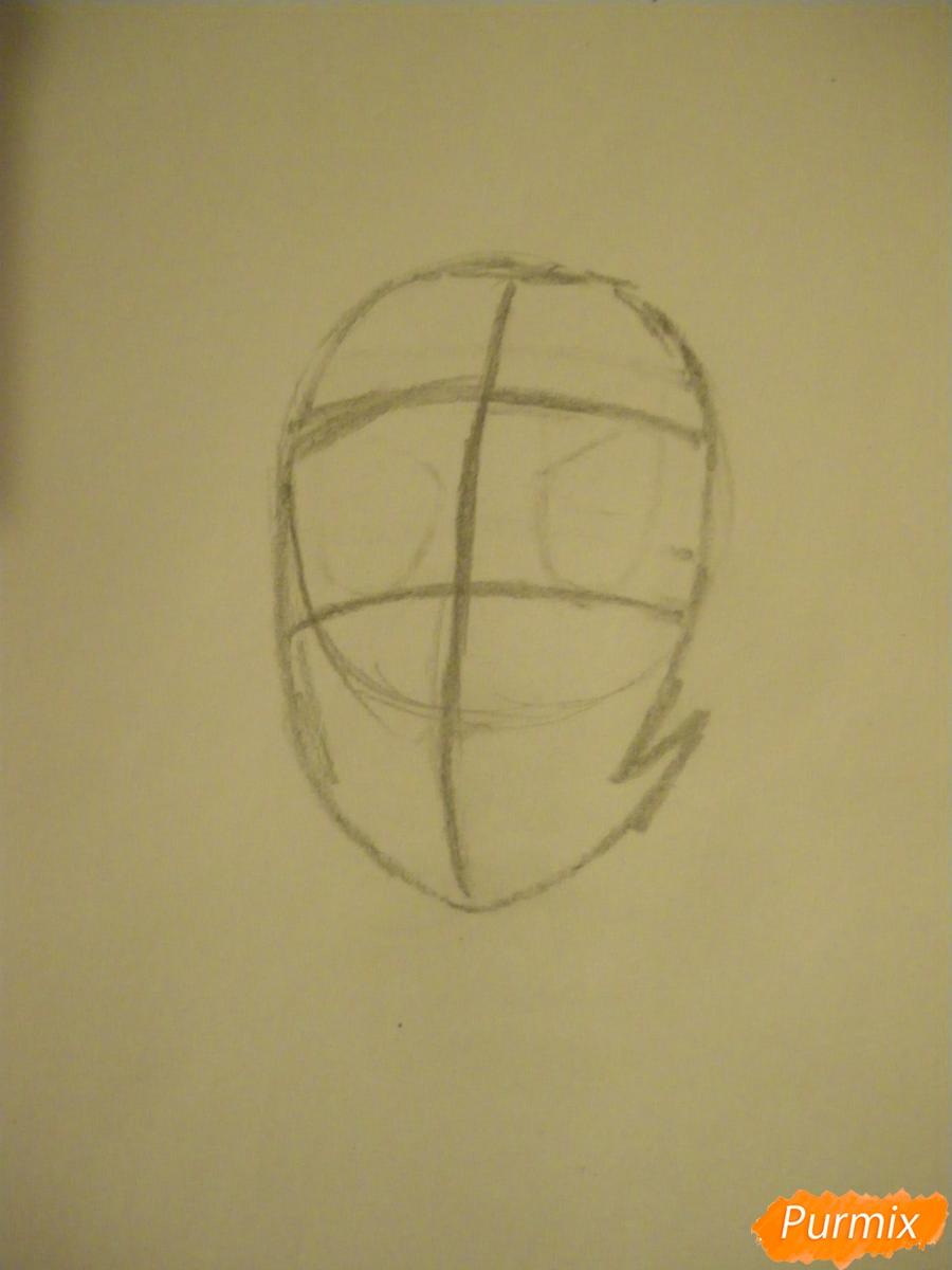 Рисуем Перидот из Вселенная Стивена - шаг 1