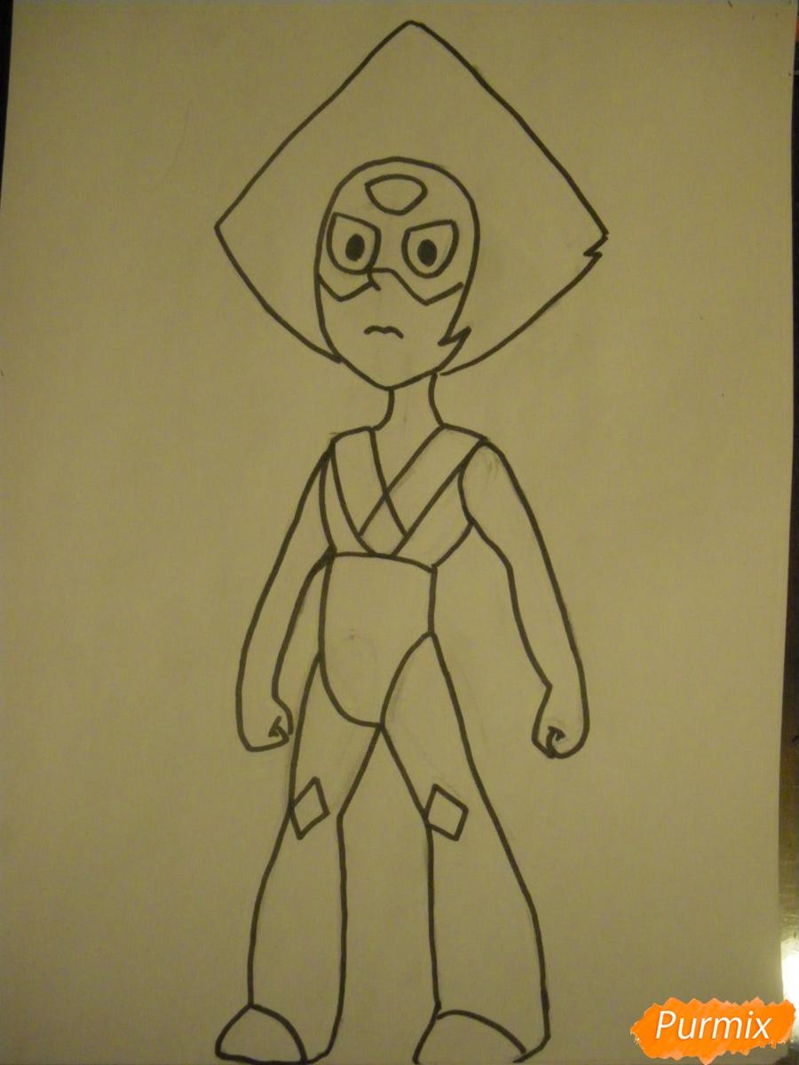 Рисуем Перидот из Вселенная Стивена - шаг 7