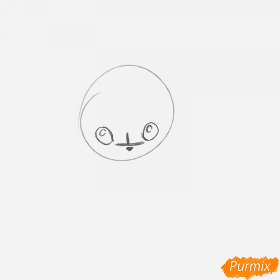 Рисуем Пикачу с шарфиком - шаг 2
