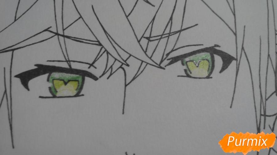 Рисуем портрет Аято Сакамаки - фото 5