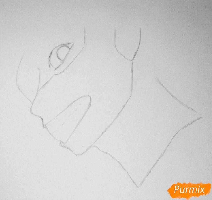 Рисуем портрет Канеки Кена из Токийский гуль - шаг 1