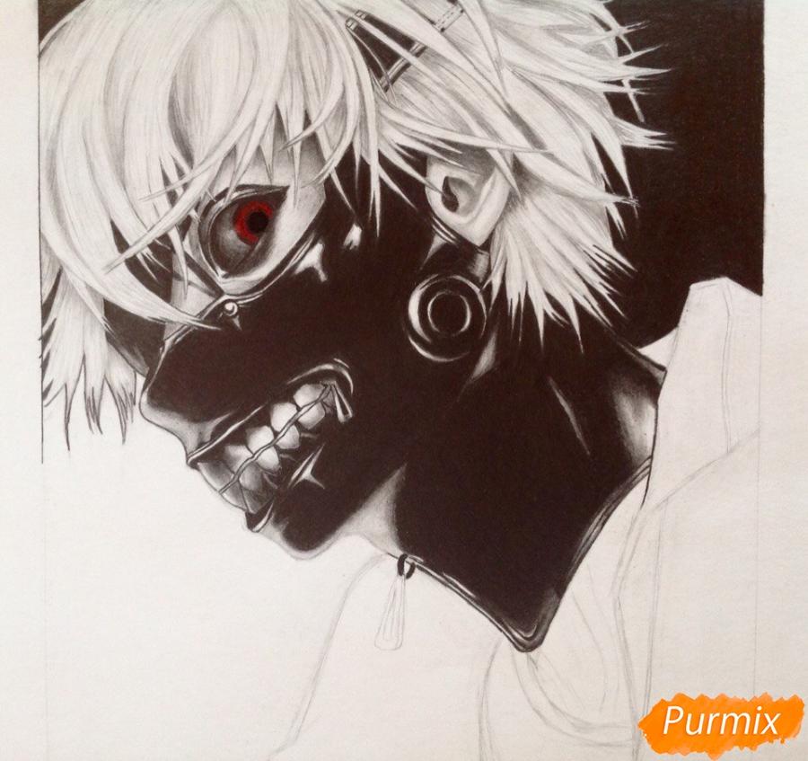 Рисуем портрет Канеки Кена из Токийский гуль - шаг 8
