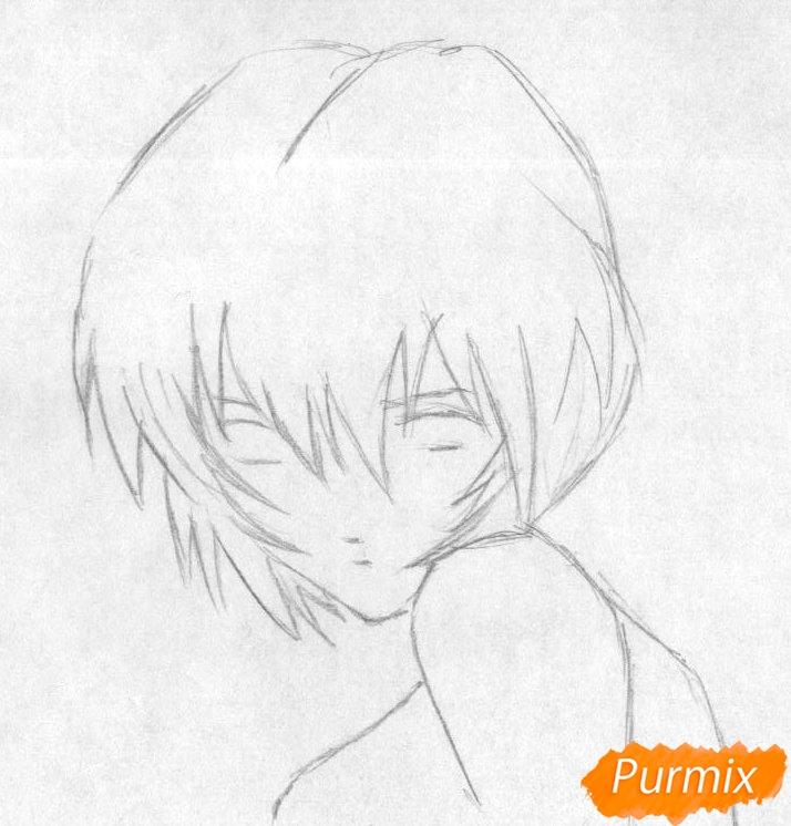 Рисуем Рей Аянами из аниме Евангелион - фото 1