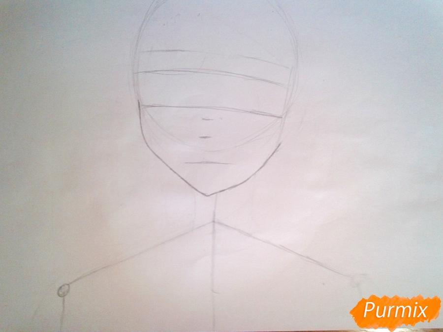 Рисуем Рейне Мурасаме из аниме Рандеву с жизнью карандашами - шаг 1