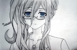 Рисунок Рейне Мурасаме из аниме Рандеву с жизнью